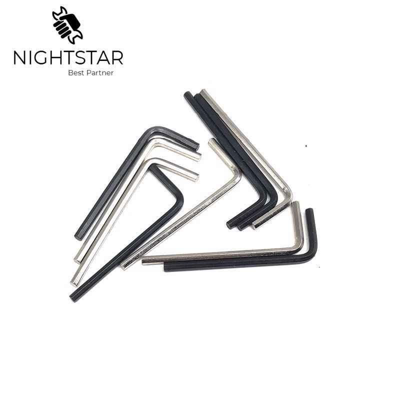 10Pcs Mini L Typ Schlüssel Buchse Gebogen Bar 2 L-Griff Hex Wrench Hand Werkzeuge/Farbe Zufällig 50mm Wrench Hex 2,5mm M2.5 Schlüssel