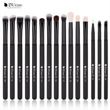 DUcare 15pcs Eyeshadow Brush Professional Make up Brushes Se Black Eye Liner Shader Natural-Synthetic Hair Cosmetic Tools