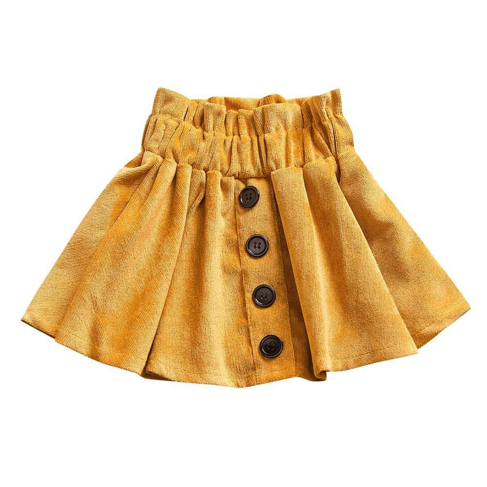 Summer Casual Kids Girls Solid Color Design Elastic Waist Short Tutu Skirts New