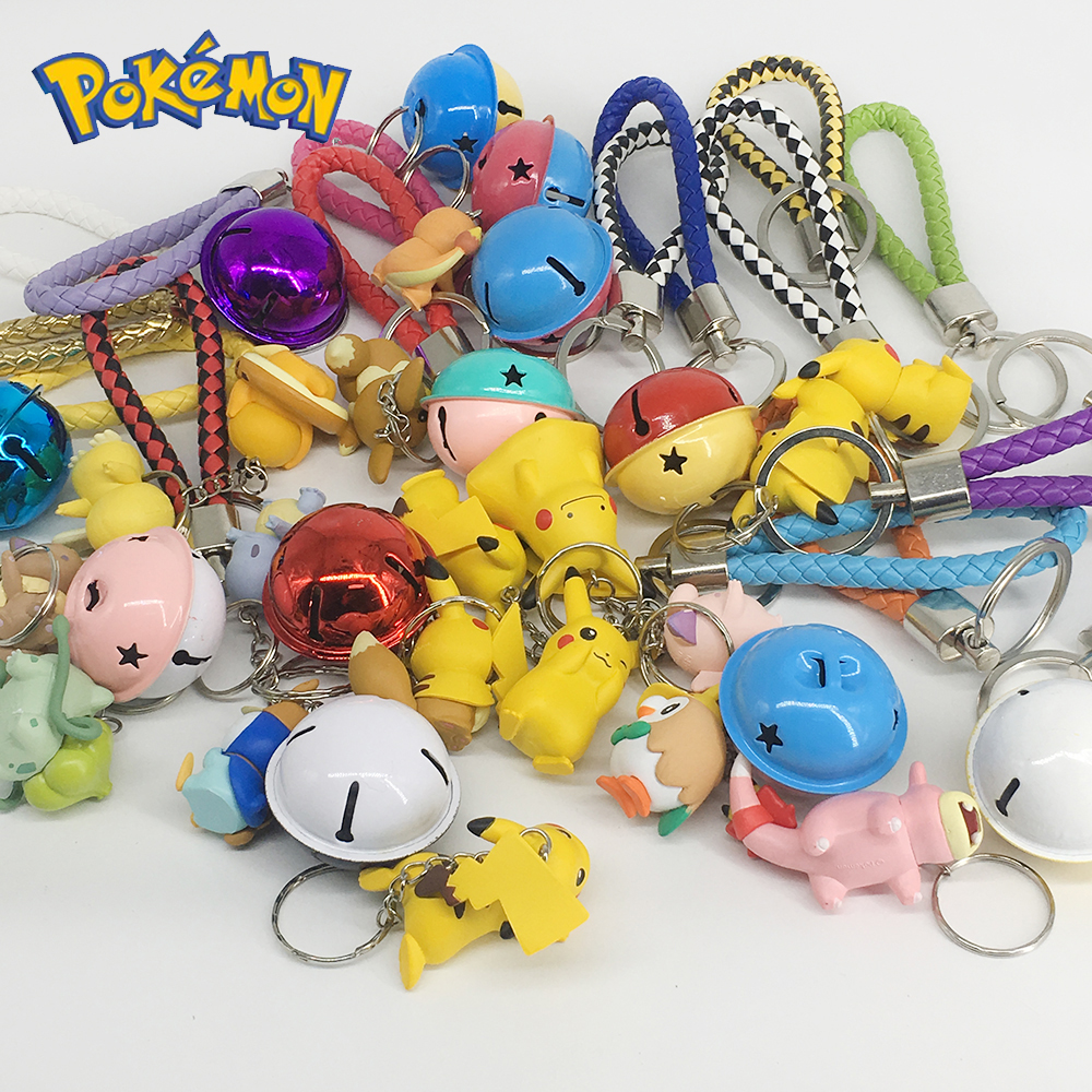 DIY Pokemon Keychain Pikachu Action Figure Pokemon Elf Series Children Toy Christmas Gifts 2
