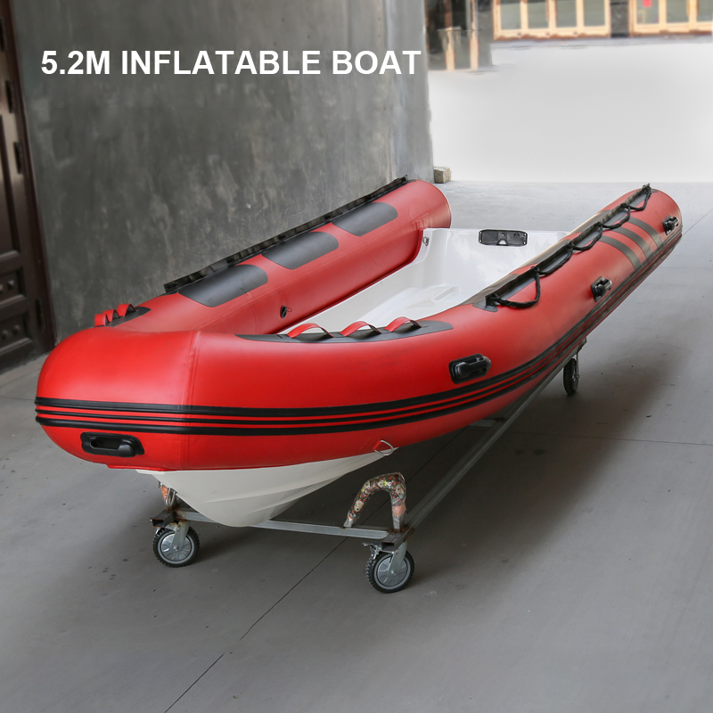 New Inflatable Boat With FRP Bottom Rubber Boat Thicken High Speed Kayak Fishing Boat Hovercraft Assault Boat