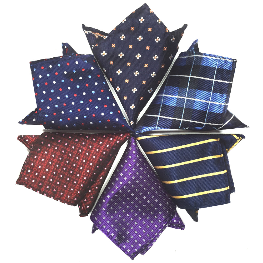 Men Suit Pocket Square Chest Towel Small Square Towel Handkerchief Dacron Jacquard Texture Manufacturers Direct Selling Preferen