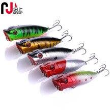 good quality 6.5CM 13G popper fishing lures topwater bait Vivid 3D Eyes Bionic Laser skin Artificial Bass hooks Variant Colors