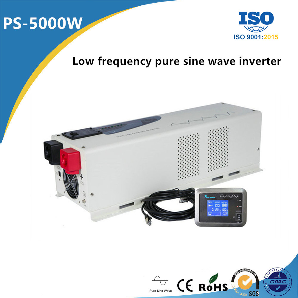 Low frequency single phase 5000w pure sine wave 12v 24v dc ac inverter solar