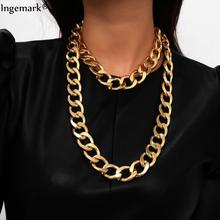 Exaggerated Unique Chunky Chain Choker Necklace Collar Statement Women Accessories Multi Layer Big Thick Necklace Steampunk Men