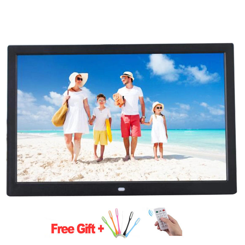 Cadre Photo numérique 12 pouces cadre Photo numérique Full HD avec télécommande lecteur MP4 films alarme vidéo mp3