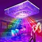 Mordern Светодиодный потолочный светильник с кристаллами, лампа RGB с регулируемой яркостью, 220 В, приложение Bluetooth и музыкальный динамик, цветна... - 1