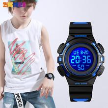 SKMEI Sport Kids Watches Waterproof PU Leather Colorful Disp