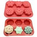 Силиконовая форма для торта в форме снежинки, форма для маффинов, шоколада, печенья, выпечки, Декор, форма для торта, кофе, сковорода, домашни...