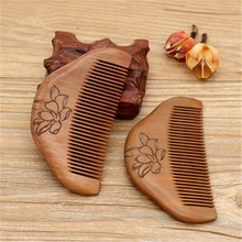 1pcs Natural Peach Wood Comb Anti-static Massage Healthy for Women Chinese Traditional Haircut Tool