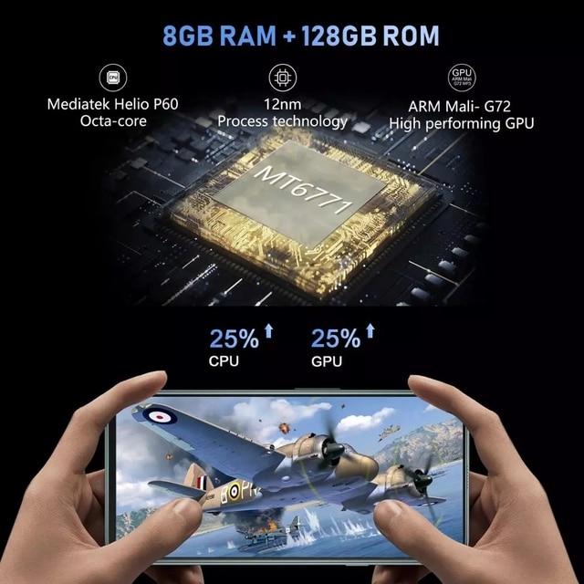 "Cubot C30 8GB Smartphone Global 4G LTE 128/256GB 32MP Selfie 48MP Quad Camera Helio P60 NFC 6.4""FHD+ 4200mAh Android 10 Celular"