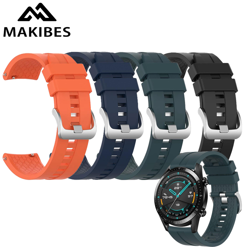 22MM Replacement Watch Band For Huawei GT2/Amazfit Pace/amsung Gear S3/Gear 2 R380 Silicon Strap Black/Orange/White/Blue/Green