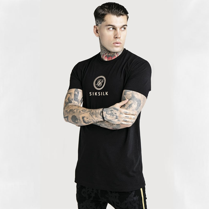 Sik Silk Mens T Shirt Fashion Short Sleeve Male Shirts Hip Hop Streetwear Siksilk Summer T-shirt Casual Silk Silk Man Tshirts
