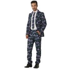 Высокое качество Crazy cosplay костюм на Хэллоуин костюмы Рождественская вечеринка летучие мыши куртка темные ткани для Блейзер мужчин
