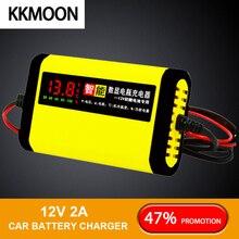Автомобильный Мотоциклетные батареи Зарядное устройство 12V 2A полный автомат 3 стадии AGM свинцово-кислотный гель интеллигентая(ый) ЖК-дисплей Дисплей Батарея Зарядное устройство