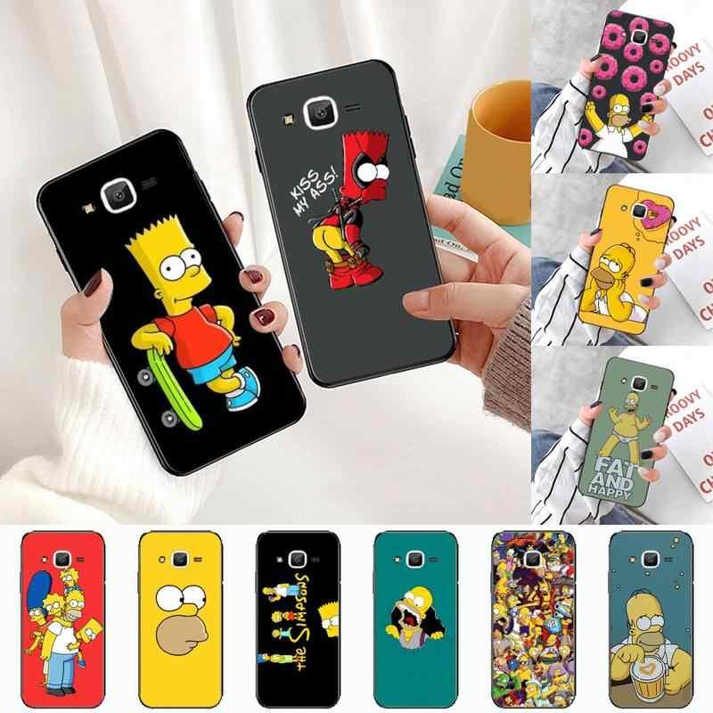 Homer J Simpson funny Bart Simpson Phone Case Hull For Samsung ...