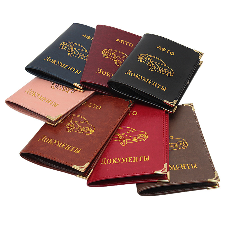 Hot Deals PU Leather On Cover For Car Driving Documents Card Credit Holder Russian Auto Driver License Bag Purse Wallet Case New