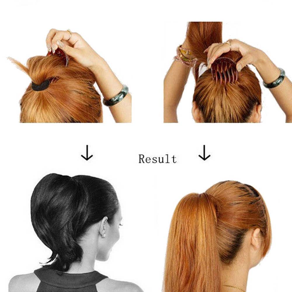 Kadın Saç Şekillendirici Klip Kabarık Sopa Topuz Plastik Maker Örgü Aracı At Kuyruğu Tutucu Saç Tarak saç aksesuarları