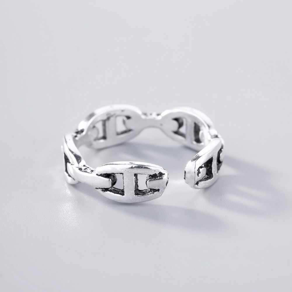 Trendy Vintage Infinite แหวนสันติภาพนิ้วมือ Knuckle แหวนผู้หญิงวันเกิดของขวัญมิตรภาพสำหรับชาย