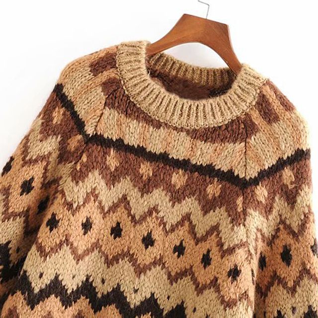 Vintage Style Knitted Sweater 2