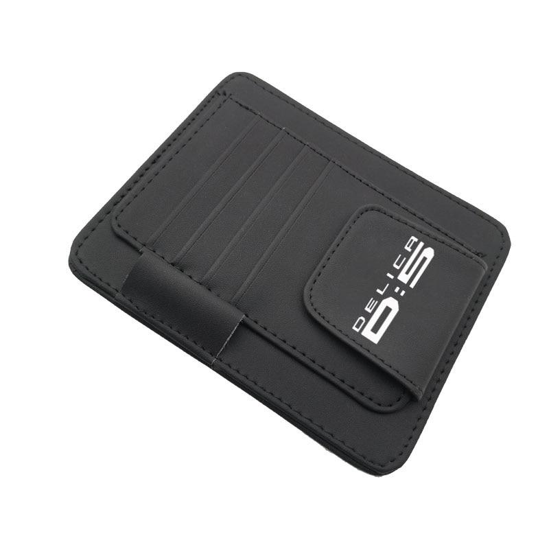 Кожаный солнцезащитный козырек для Mitsubishi Delica D5, органайзер для хранения карт, держатель для хранения очков