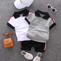 Baby boys clothes sets summer newborn cotton cute t-shirt+shorts 2pcs tracksuits for bebe boys toddler casual jogging suits 1 2Y