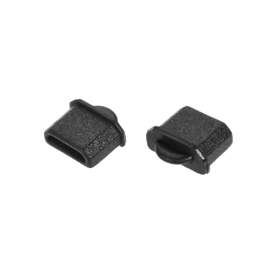 uxcell Silicone Micro HDMI Male Port Anti-Dust Stopper Cap Cover Black 10pcs