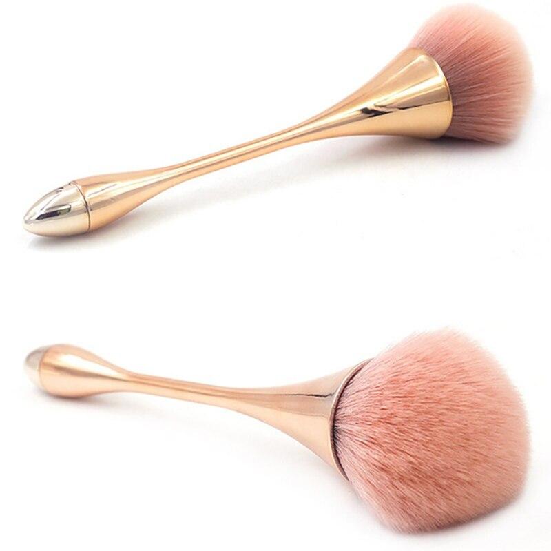 Big Size Metal Handle Rose Gold Powder Blush Makeup Brush For Shading Foundation Base Contour Make Up Brush Concealer Cosmetic