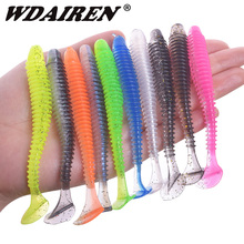 WDAIREN  Soft Lures Silicone Bait 9.5cm 7cm 5cm Goods For Fishing Sea Fishing Pva Artificial Swimbait Wobblers Tackle