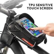 Sacchetto della bicicletta Telaio Anteriore Superiore Del Tubo Antipioggia Bike Borse 6.0in Cassa Del Telefono Touchscreen Impermeabile Della Bicicletta Del Sacchetto MTB Accessori Per il Ciclismo