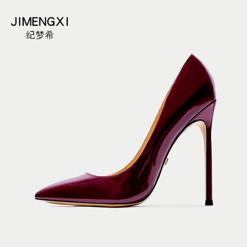 High-heeled Shoes Sharp Woman Fine With 10cm Rubber 12cm Nightclub Banquet Single Shoe