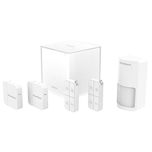 ISmart alarma Sistema de Seguridad inalámbrico de Blanco Camaras de seguridad simuladas de vigilancia con Flash LED parpadeantes con domo falso para el hogar CCTV