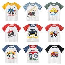 Хлопковая футболка с коротким рукавом для мальчиков и девочек