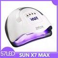 Защита от солнца X7 Max авто лампы для ногтей обновления 180 Вт 57LED УФ-лампа для фототерапии и быстросохнущая гель лампы для ногтей, профессионал...