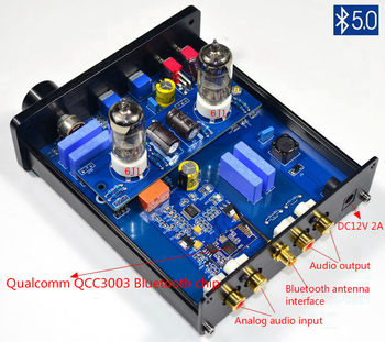 Preamplifier 6J1 Vacuum Tube Amplifier HiFi Bluetooth 5.0 Preamp AMP With Treble Bass Tone Adjustment Home Sound Theater