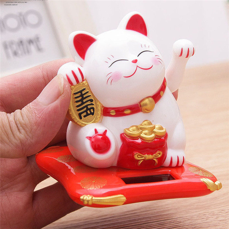 Waving Cat Hotel-Decoration Lucky-Cat Creative Home-Shop Electric-Craft Fashion Cute title=