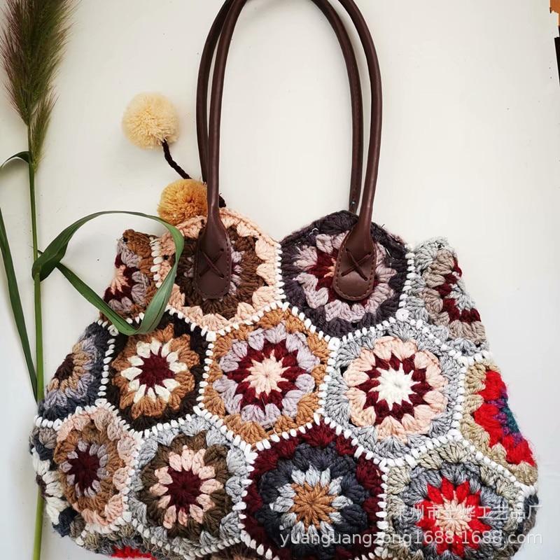 Дизайнерские Модные сумки через плечо для женщин, новая тканая сумка в этническом стиле, Повседневные Вечерние сумки через плечо|Сумки с ручками|   | АлиЭкспресс