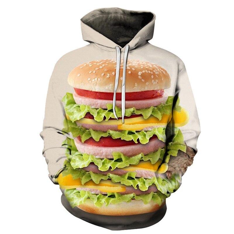 3D Printed Burger Food Drinks Hoodies 9