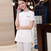 SPA health salon beauty manicure uniforms cosmetologist autumn wear short sleeved suit overalls