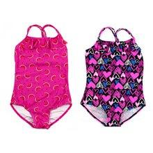 Girls Swimwear Beach Bikini Set Infantil Suit Leopard Print Swimsuit Children Bathing SwimSuit Kids Swimming Suit J71 цена