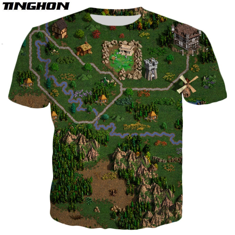XS-7XL New Fashion Summer T Shirt Game Heroes Of Might & Magic Print Tshirt Unisex Casual Tee Shirts Drop Shipping 02