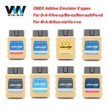 Adblue emulador para euro 4/5/6 para benz para scania caminhão adblueobd2 emulador caixa para renault/ford/daf ad azul obd emulador