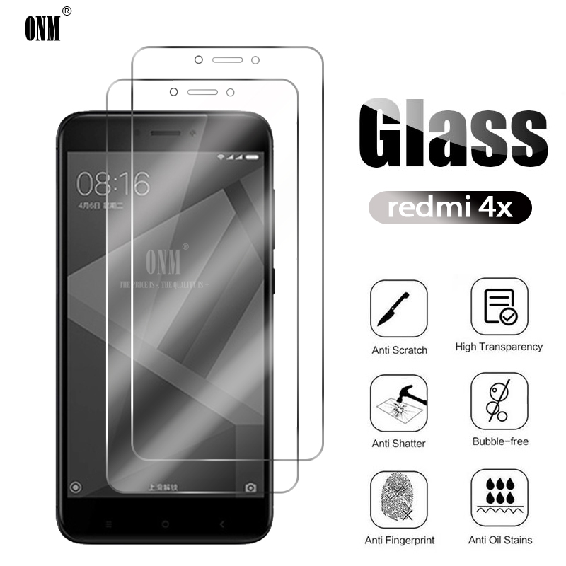 2Pcs Redmi 4X Tempered Glass For Xiaomi Redmi 4 Screen Protector For Xiaomi Redmi 4X Protective Glass Film