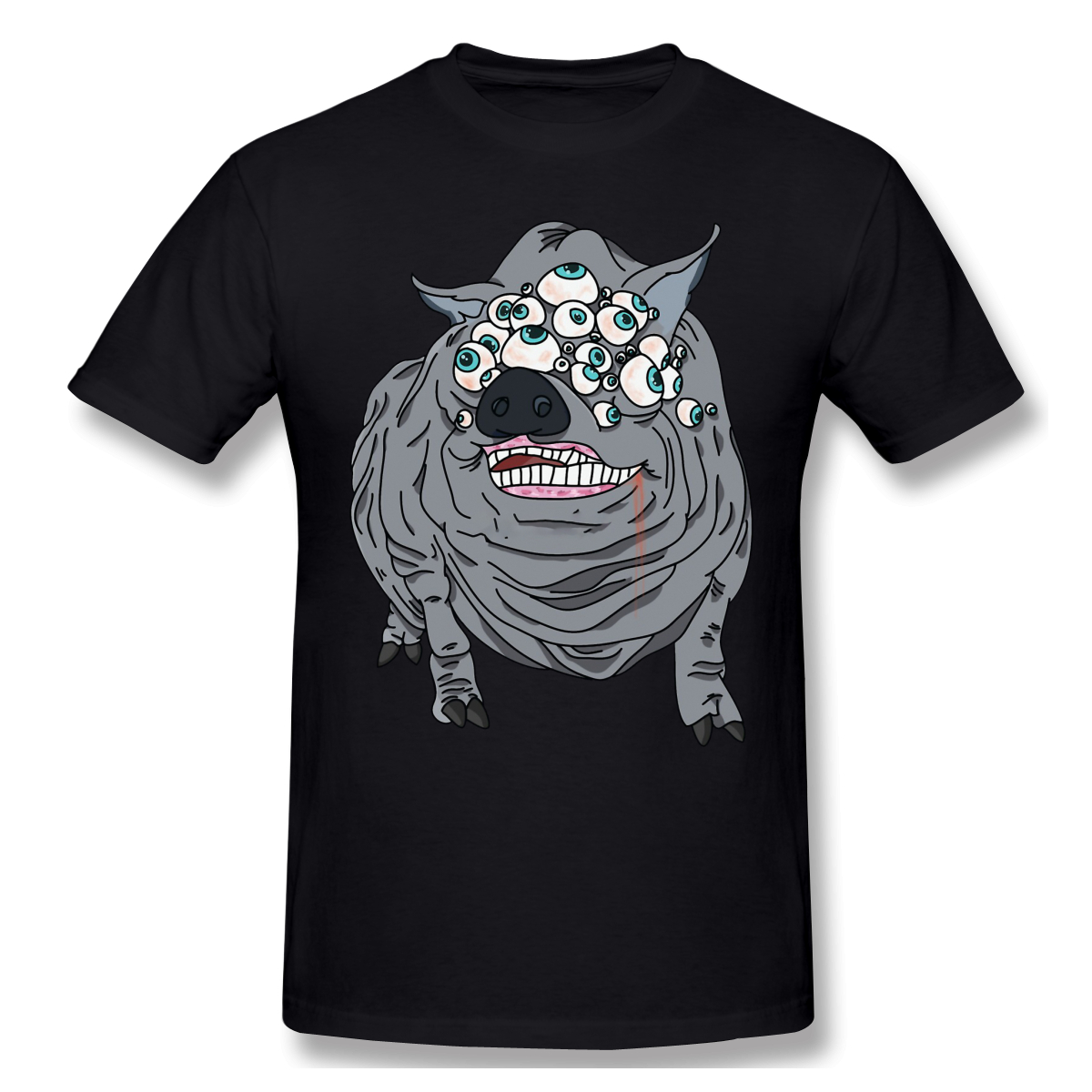 Maneater Boar Men's T-Shirt 100% Cotton Pattern Short Summer Sleeve Bloodborne ARPG games Casual Tshirt Gift Idea Tops image