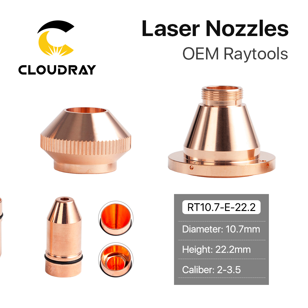 Cloudray Bullet Laser Nozzle Single/Double Layer Caliber 0.8 - 4.0 For CINCINNATI Lasermech Fiber Laser Cutting Machine 1064nm