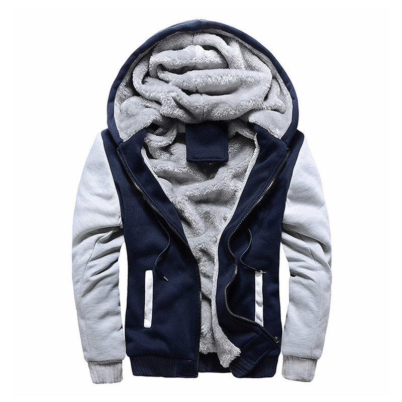 M-5XL Larg Fashion Brand Sweatshirts Mens 2019 Winter Thicken Hoodie Men Hoodies Sweatshirt Men Zipper Coats Sudadera Hombre