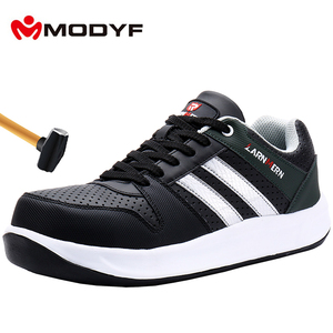 Image 1 - MODYF Men Safety Shoes Steel Toe Work Shoes Flats Casual Protective Footwear Sneaker