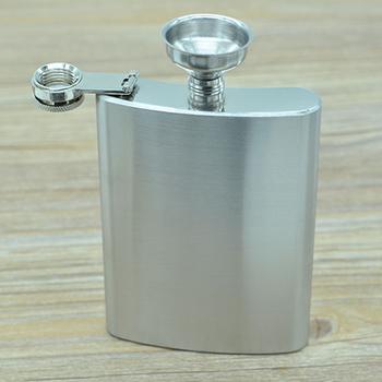 1 szt 8 uncji ze stali nierdzewnej Hip Flask (z małym lejkiem) przenośna wódka Rum Hip Flask łatwo wyjść outdoorowy zbiornik w kształcie czajnika osobowość tanie i dobre opinie CN (pochodzenie) Metal Mini