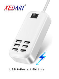 Faichoy Plug Usb-Charger-Hub Power-Adapter Wall-Socket Fast-Charging-Extension Dock Cell-Phone-Tablet