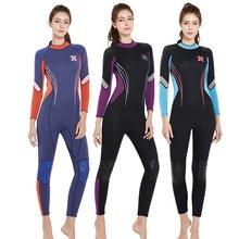 Неопреновый цельный гидрокостюмный костюм 3 мм для женщин профессиональный